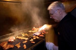 Vlado at the grill